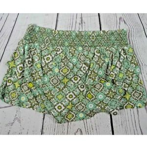 Aerie green print skirt size large